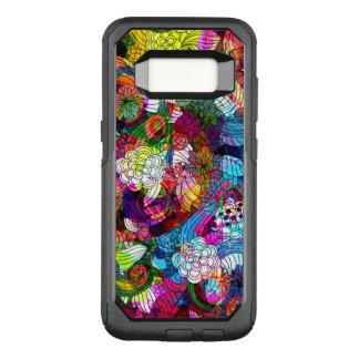 Capa OtterBox Commuter Para Samsung Galaxy S8 Teste padrão colorido da colagem das flores retros