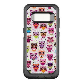 Capa OtterBox Commuter Para Samsung Galaxy S8 Teste padrão colorido da coruja para os miúdos 2