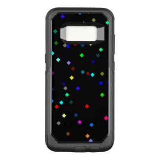 Capa OtterBox Commuter Para Samsung Galaxy S8 Teste padrão colorido dos quadrados no fundo preto