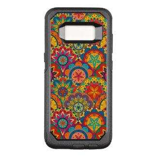Capa OtterBox Commuter Para Samsung Galaxy S8 Teste padrão colorido retro Funky da mandala