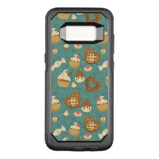 Capa OtterBox Commuter Para Samsung Galaxy S8 Teste padrão com cupcakes e doces