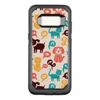Capa OtterBox Commuter Para Samsung Galaxy S8 Teste padrão com gatos e os cães engraçados