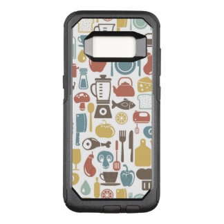 Capa OtterBox Commuter Para Samsung Galaxy S8 Teste padrão com ícones do cozinhar