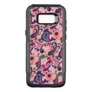 Capa OtterBox Commuter Para Samsung Galaxy S8+ Teste padrão cor-de-rosa bonito de Paisley
