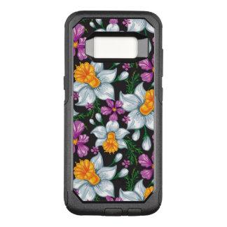 Capa OtterBox Commuter Para Samsung Galaxy S8 Teste padrão da elegância com flores 2 do narciso