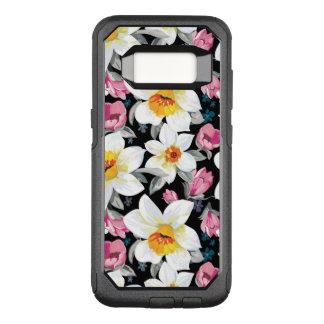 Capa OtterBox Commuter Para Samsung Galaxy S8 Teste padrão da elegância com flores do narciso