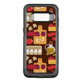Capa OtterBox Commuter Para Samsung Galaxy S8 Teste padrão da pizza