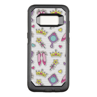 Capa OtterBox Commuter Para Samsung Galaxy S8 teste padrão da princesa da borboleta