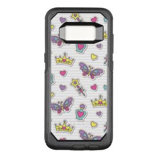 Capa OtterBox Commuter Para Samsung Galaxy S8 teste padrão da princesa do balé