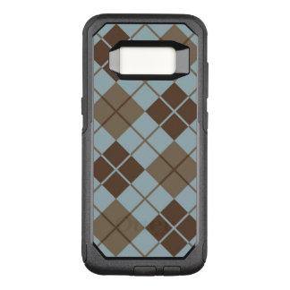 Capa OtterBox Commuter Para Samsung Galaxy S8 Teste padrão de Argyle no azul e no Taupe