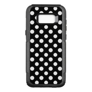 Capa OtterBox Commuter Para Samsung Galaxy S8+ Teste padrão de bolinhas preto e branco