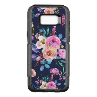 Capa OtterBox Commuter Para Samsung Galaxy S8+ Teste padrão de flores colorido das aguarelas