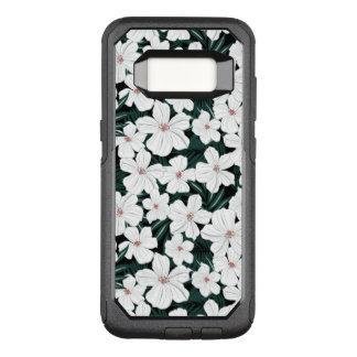Capa OtterBox Commuter Para Samsung Galaxy S8 Teste padrão de flores tropical branco