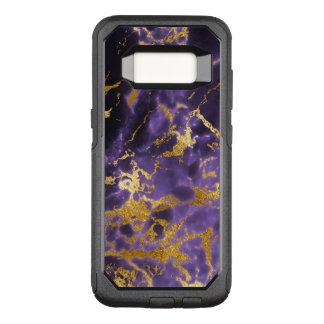Capa OtterBox Commuter Para Samsung Galaxy S8 Teste padrão de mármore preto roxo do brilho do