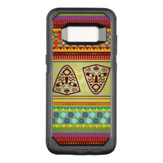 Capa OtterBox Commuter Para Samsung Galaxy S8 Teste padrão de máscara africano colorido
