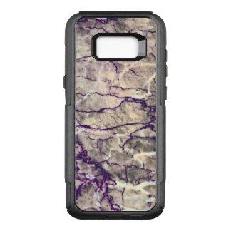 Capa OtterBox Commuter Para Samsung Galaxy S8+ Teste padrão de pedra de mármore roxo