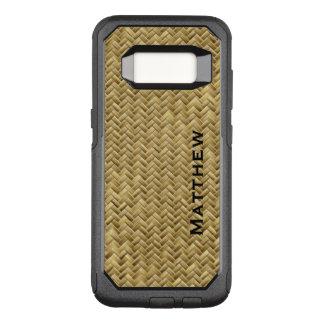 Capa OtterBox Commuter Para Samsung Galaxy S8 : Teste padrão de Weave de cesta de GoldenFaux