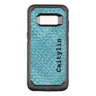 Capa OtterBox Commuter Para Samsung Galaxy S8 : Teste padrão de Weave de cesta do falso do Aqua