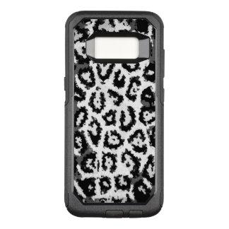 Capa OtterBox Commuter Para Samsung Galaxy S8 Teste padrão do abstrato da chita de Black&White
