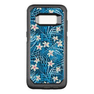Capa OtterBox Commuter Para Samsung Galaxy S8 Teste padrão do azul das folhas de palmeira