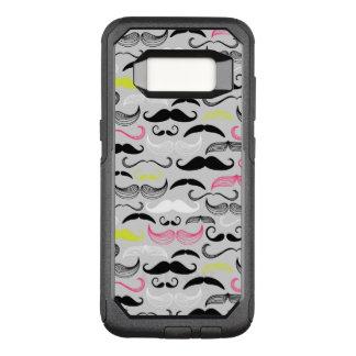 Capa OtterBox Commuter Para Samsung Galaxy S8 Teste padrão do bigode, estilo retro