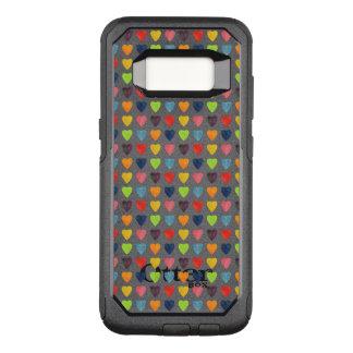 Capa OtterBox Commuter Para Samsung Galaxy S8 Teste padrão do coração da aguarela