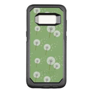 Capa OtterBox Commuter Para Samsung Galaxy S8 Teste padrão do dente-de-leão no fundo verde