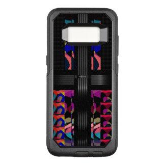 Capa OtterBox Commuter Para Samsung Galaxy S8 Teste padrão do rico da chita do arco-íris