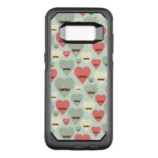 Capa OtterBox Commuter Para Samsung Galaxy S8 Teste padrão dos namorados com coração e bigode