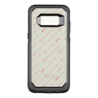 Capa OtterBox Commuter Para Samsung Galaxy S8 Teste padrão esboçado coral das setas