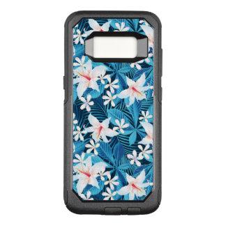 Capa OtterBox Commuter Para Samsung Galaxy S8 Teste padrão floral 2 do hibiscus tropical