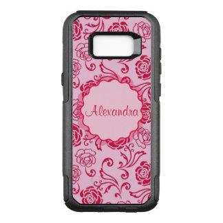Capa OtterBox Commuter Para Samsung Galaxy S8+ Teste padrão floral da estrutura de rosas de chá