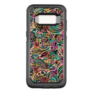 Capa OtterBox Commuter Para Samsung Galaxy S8 Teste padrão floral de Paisley do vintage colorido