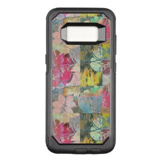 Capa OtterBox Commuter Para Samsung Galaxy S8 Teste padrão floral do grunge da arte
