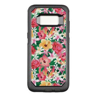 Capa OtterBox Commuter Para Samsung Galaxy S8 Teste padrão floral do hibiscus tropical