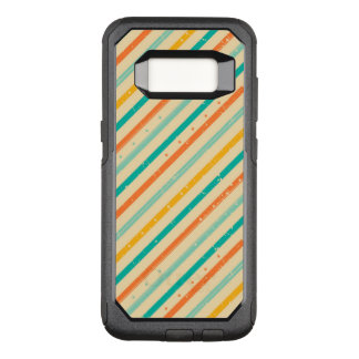 Capa OtterBox Commuter Para Samsung Galaxy S8 Teste padrão listrado do grunge retro