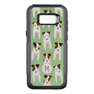 Capa OtterBox Commuter Para Samsung Galaxy S8+ Teste padrão lunático de Jack Russell monogrammed