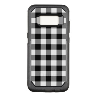 Capa OtterBox Commuter Para Samsung Galaxy S8 Teste padrão preto e branco áspero do guingão
