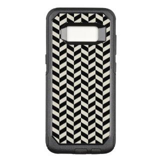 Capa OtterBox Commuter Para Samsung Galaxy S8 Teste padrão preto e branco das vigas de