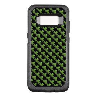Capa OtterBox Commuter Para Samsung Galaxy S8 Teste padrão, preto e verde afortunados do trevo