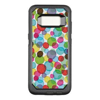 Capa OtterBox Commuter Para Samsung Galaxy S8 Teste padrão redondo 2 dos miúdos das bolhas