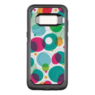 Capa OtterBox Commuter Para Samsung Galaxy S8 Teste padrão redondo dos miúdos das bolhas