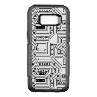 Capa OtterBox Commuter Para Samsung Galaxy S8+ Teste padrão retro preto moderno do conselho de