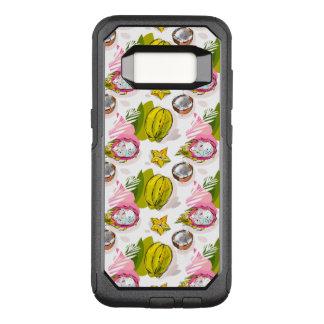 Capa OtterBox Commuter Para Samsung Galaxy S8 Teste padrão Textured carta branca da fruta