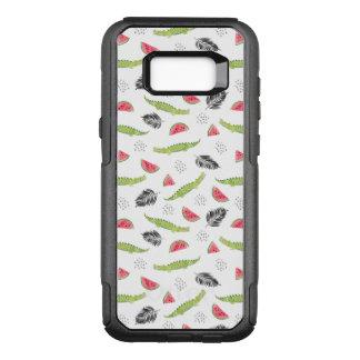 Capa OtterBox Commuter Para Samsung Galaxy S8+ Teste padrão tropical da melancia & do crocodilo