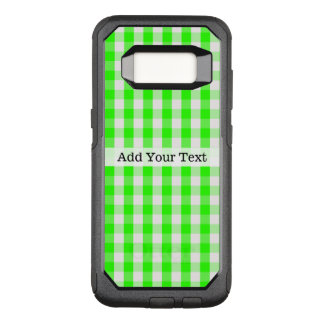 Capa OtterBox Commuter Para Samsung Galaxy S8 Teste padrão verde de néon do guingão por Shirley