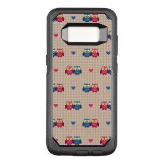 Capa OtterBox Commuter Para Samsung Galaxy S8 Teste padrão verificado com corujas do amor