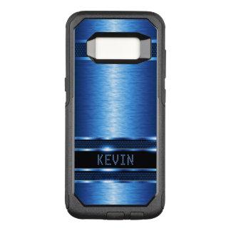 Capa OtterBox Commuter Para Samsung Galaxy S8 Textura azul metálica moderna geométrica