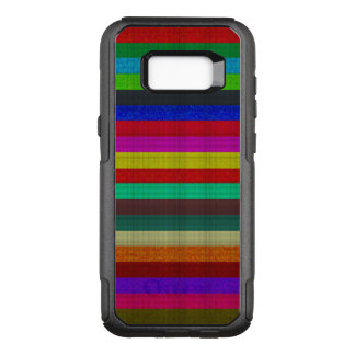 Capa OtterBox Commuter Para Samsung Galaxy S8+ Textura colorida do azulejo das listras