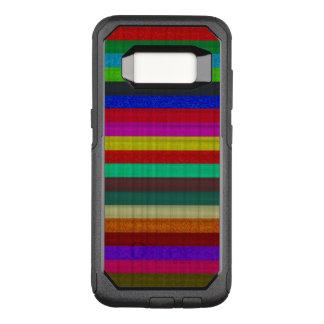 Capa OtterBox Commuter Para Samsung Galaxy S8 Textura colorida do azulejo das listras
